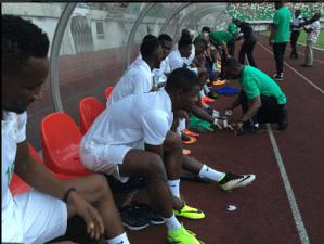 Photos Of Rohr, Mikel Obi, Victor Moses, Iheanacho & Other Players Training In Uyo